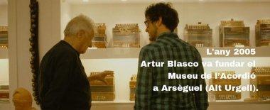 Artur Blasco i Pau Benavent al Museu de 'Acordió
