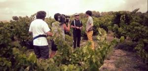 Pere Figueres durant el rodatge