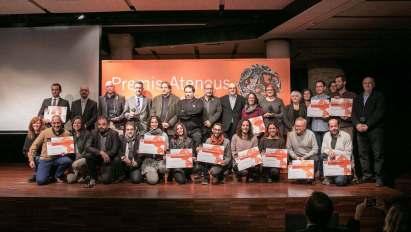 Guardonats i autoritats als Premis Ateneus 2017
