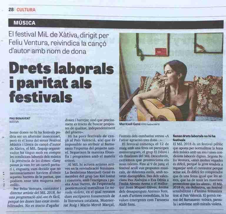 article Pau Benavent Diari Jornada Festival MIL 2018