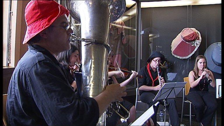 Les músiques de la Patum. Programa nydia de TV3 Canal 33. Pau Benavent...